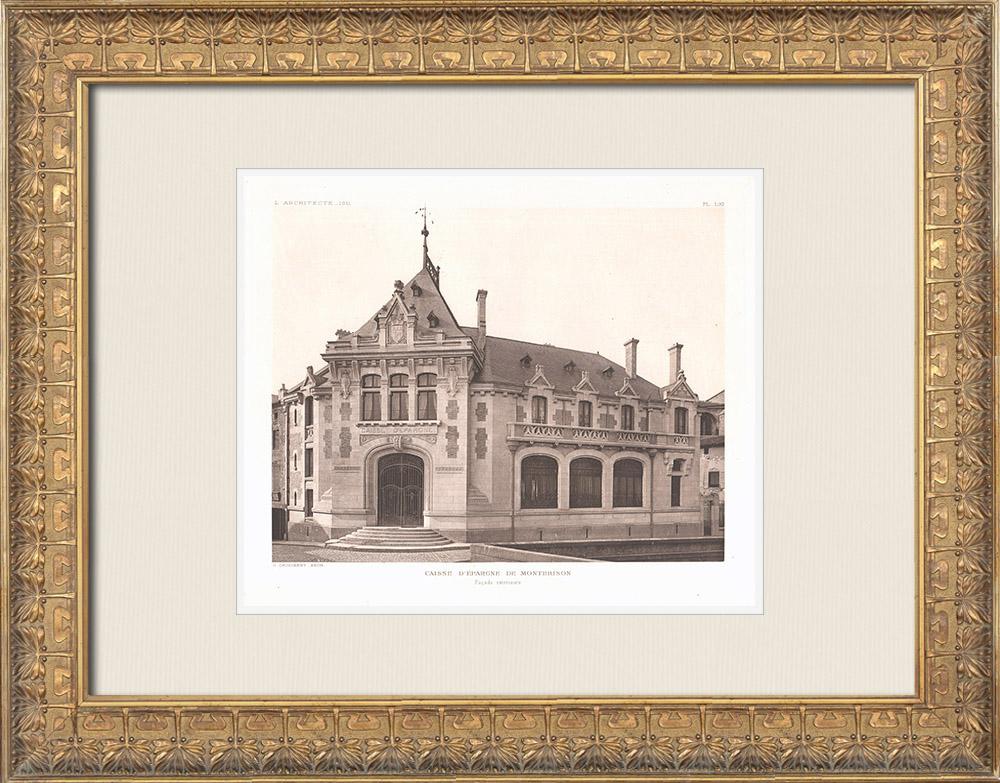 Antique Prints & Drawings | Caisse d'Epargne of Montbrison - Loire (Georges Gaudibert) | Heliogravure | 1911