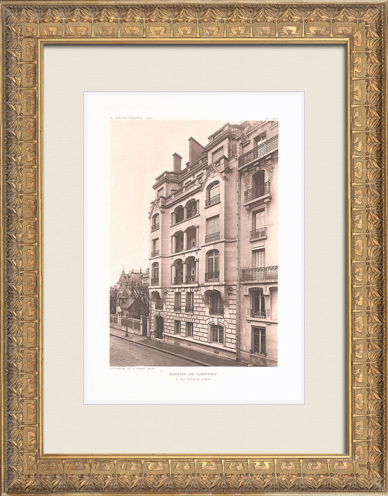 Antique Prints & Drawings | House in Paris (Formigé & Gonse) | Heliogravure | 1911