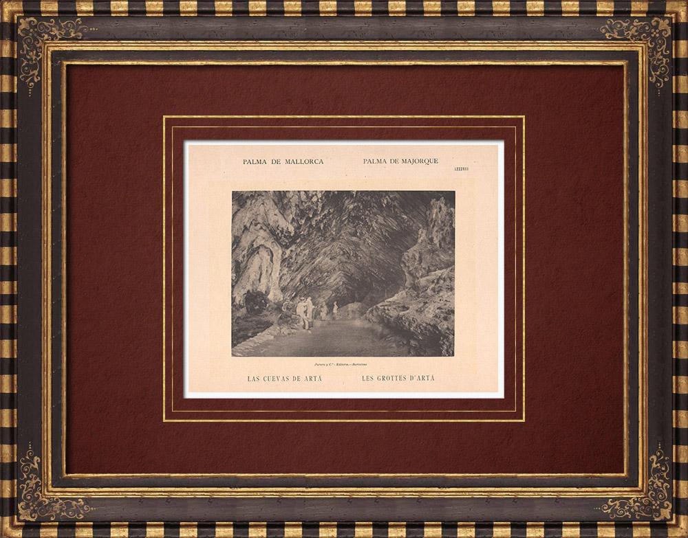 Gravures Anciennes & Dessins | Les Grottes d'Artá - Majorque - Îles Baléares (Espagne) | Phototypie | 1899
