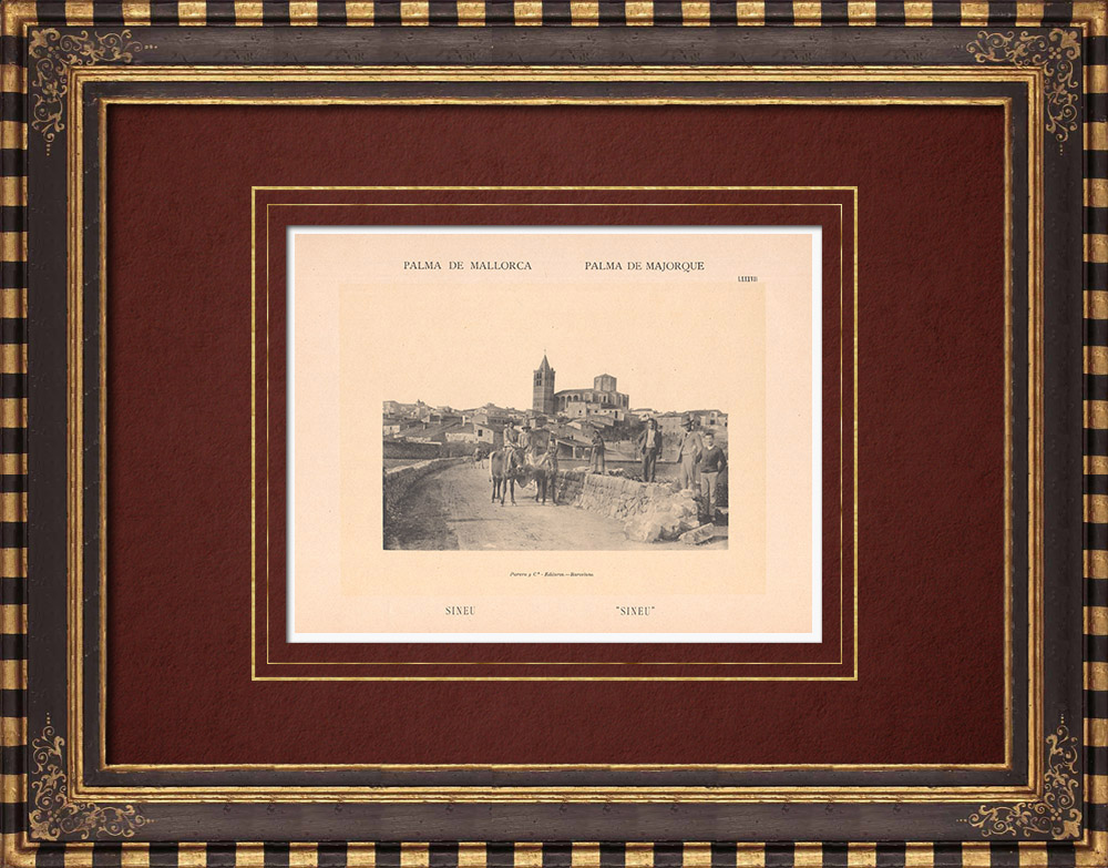 Antique Prints & Drawings | View of Sineu - Majorca - Balearic Islands (Spain) | Phototypie | 1899