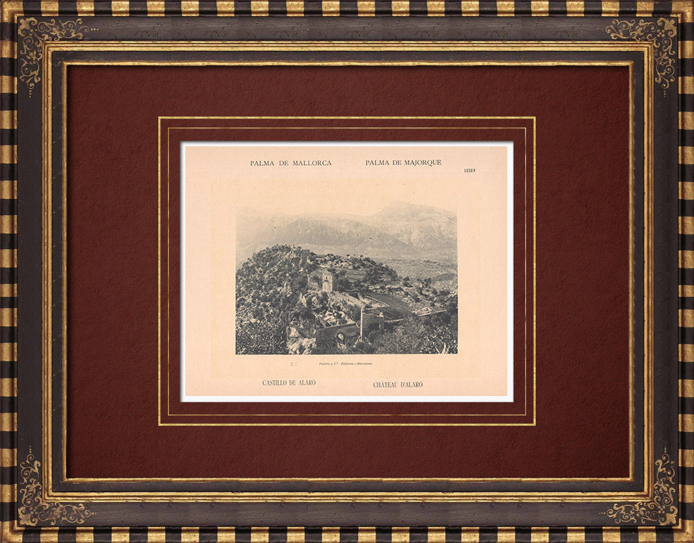 Antique Prints & Drawings | Castle of Alaró - Majorca - Balearic Islands (Spain) | Phototypie | 1899