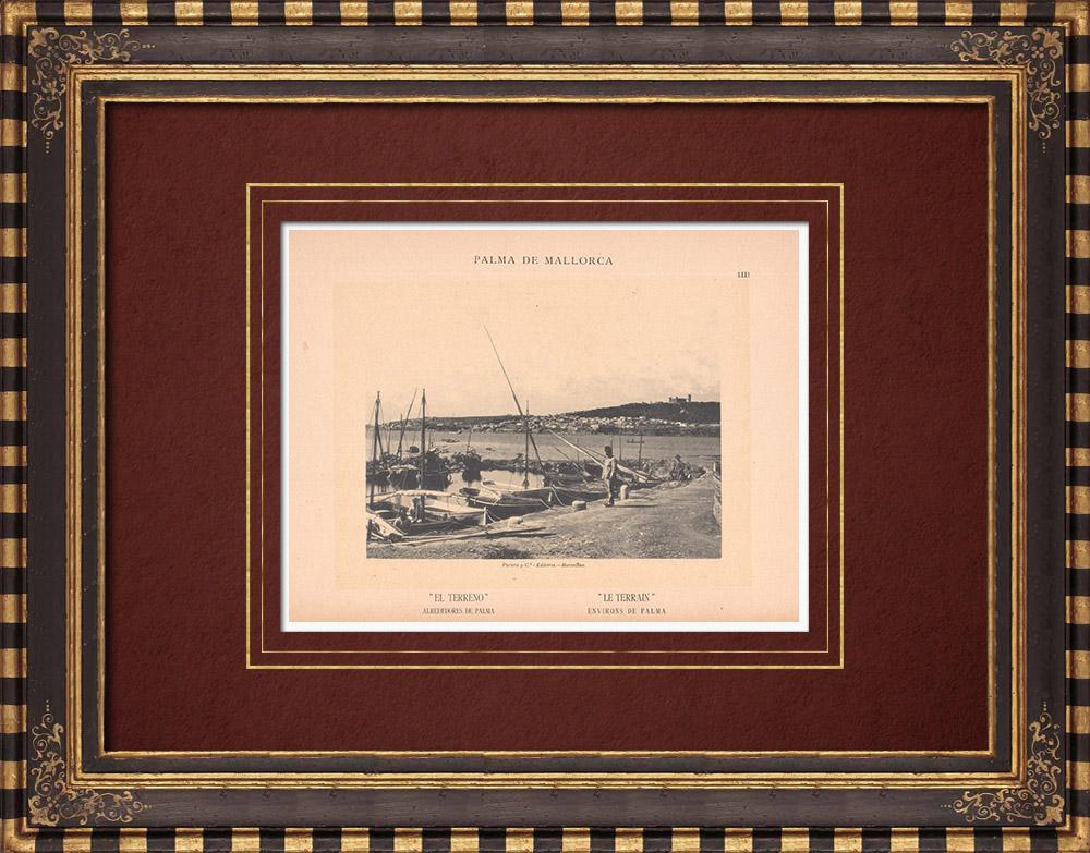 Antique Prints & Drawings   El Terreno - Poniente District - Palma de Mallorca - Balearic Islands (Spain)   Phototypie   1899