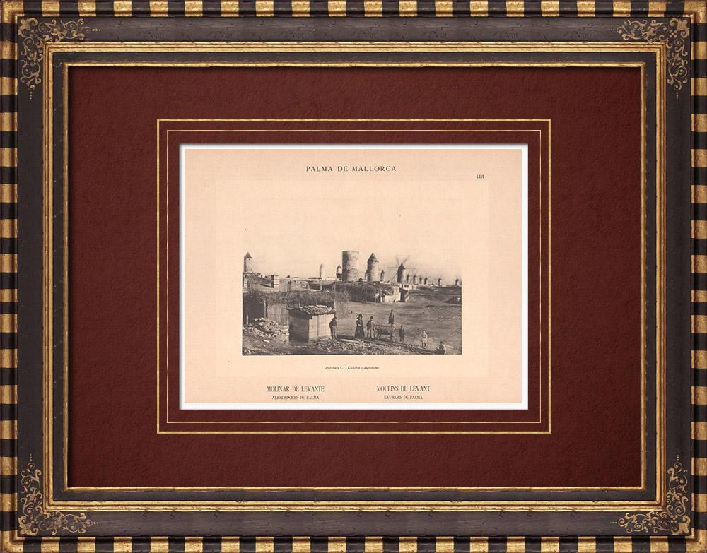Antique Prints & Drawings | Es Molinar de Levante close to Palma de Mallorca - Balearic Islands (Spain) | Phototypie | 1899