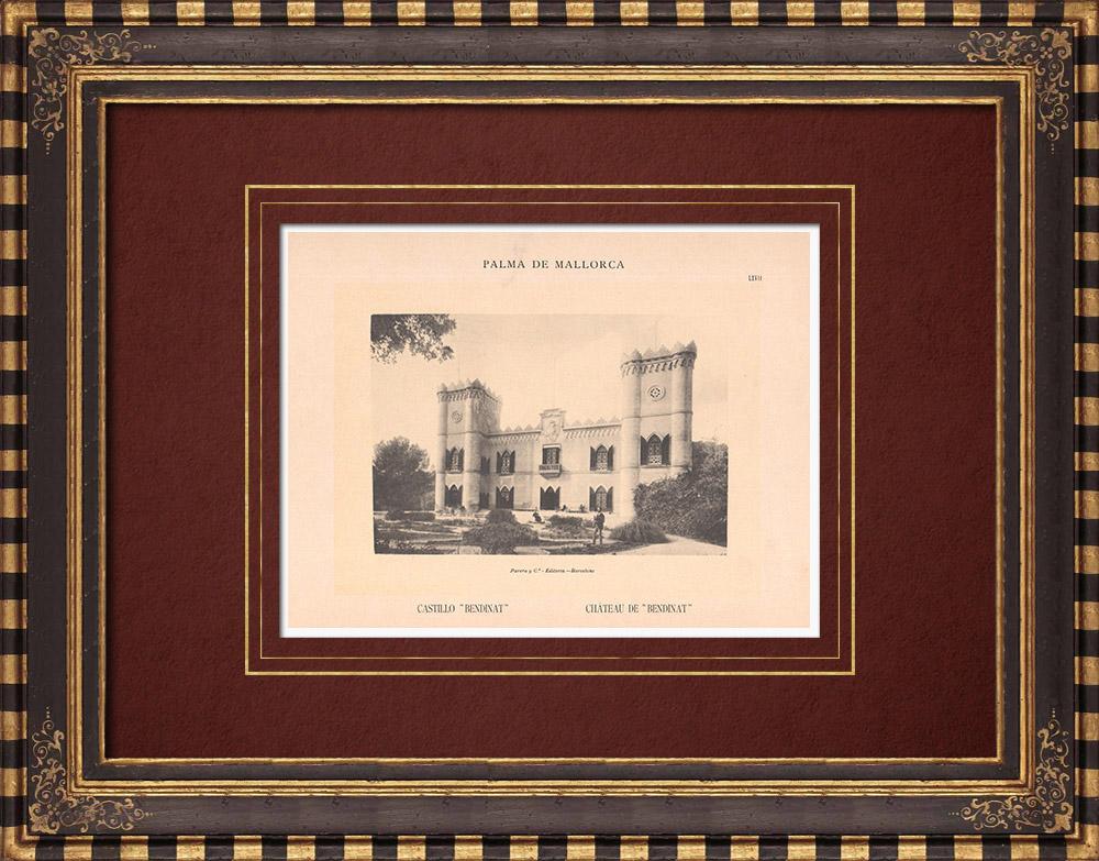 Antique Prints & Drawings   Bendinat Castle - Calvià - Majorca - Balearic Islands (Spain)   Phototypie   1899