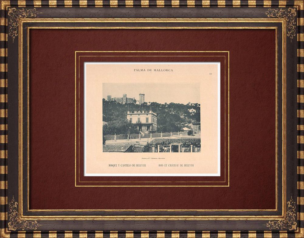 Antique Prints & Drawings | Bellver Castle - Majorca - Balearic Islands (Spain) | Phototypie | 1899