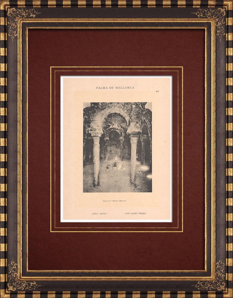 Antique Prints & Drawings | Arab baths - Palma de Mallorca - Balearic Islands (Spain) | Phototypie | 1899