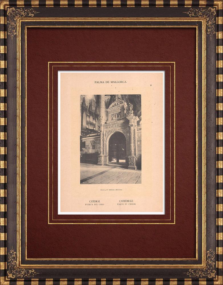 Antique Prints & Drawings | Cathedral of Palma de Majorca - Door of the Choir - Balearic Islands (Spain)  | Phototypie | 1899