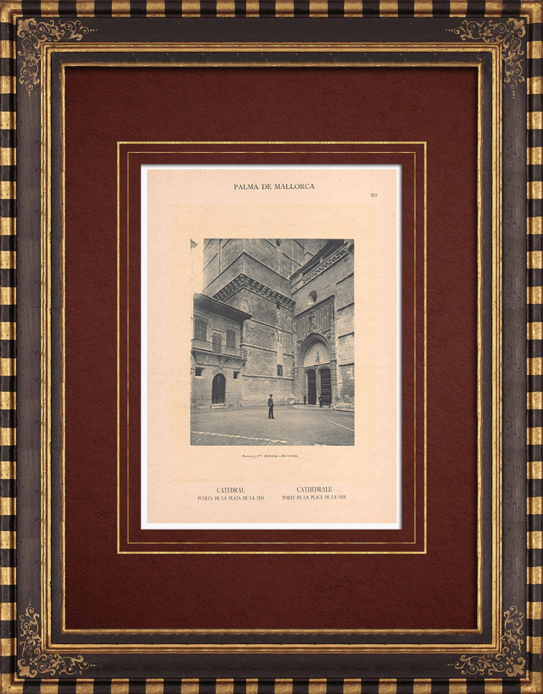 Antique Prints & Drawings   Cathedral of Palma de Mallorca - Balearic Islands (Spain)   Phototypie   1899