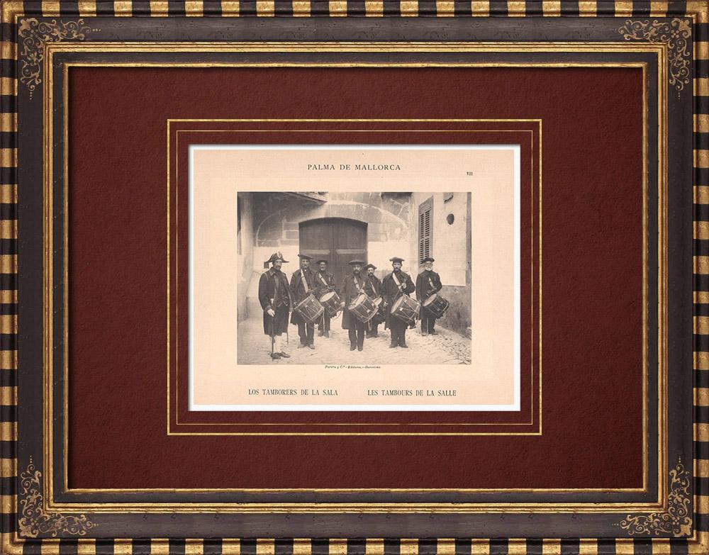 Gravures Anciennes & Dessins   Les tambours de la Sala - Conseil municipal - Palma de Majorque (Espagne)   Phototypie   1899