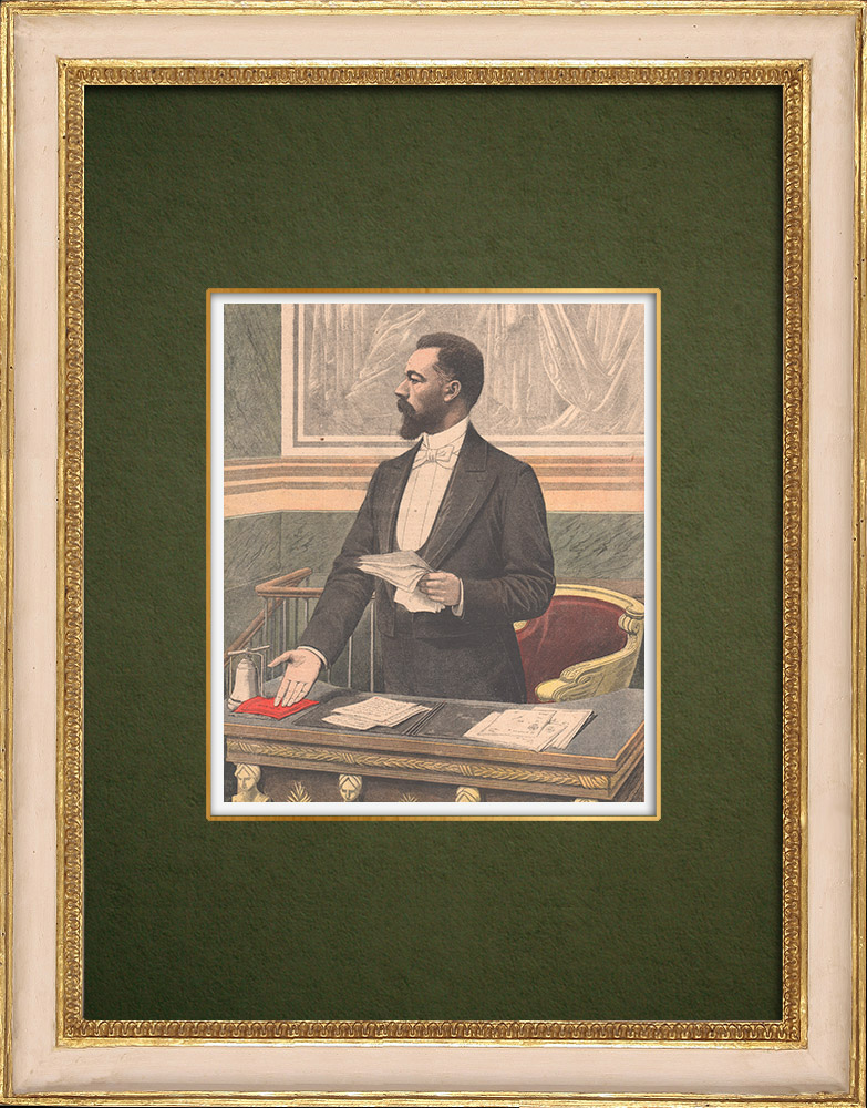 Antique Prints & Drawings | Portrait of Paul Doumer (1857-1932) | Wood engraving | 1905