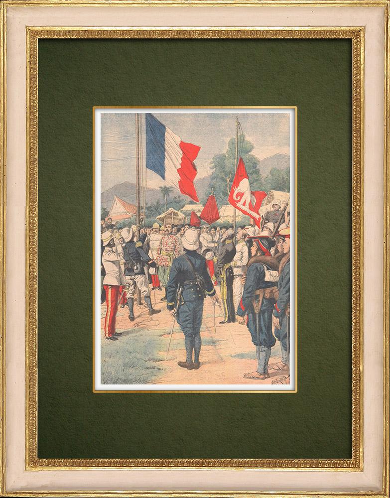 Gravures Anciennes & Dessins   Le Siam remet à la France le port de Krat et la province de Koh Kong - 1905   Gravure sur bois   1905