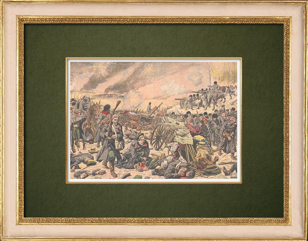 Antique Prints & Drawings | Mukden battle - The Retreat - Manchuria - 1905 | Wood engraving | 1905