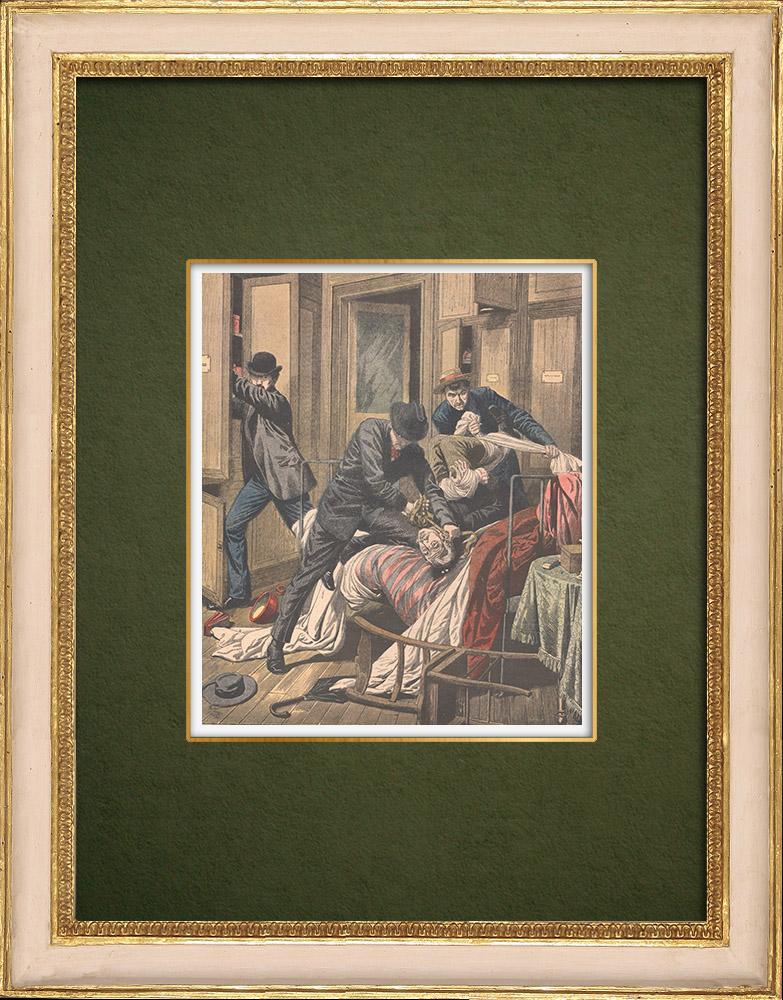 Antique Prints & Drawings | Burglary and murder in Paris - 1905 | Wood engraving | 1905