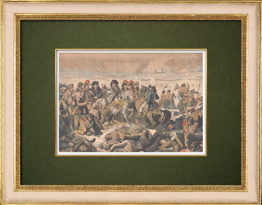 Antique Prints & Drawings   Napoléon on the battlefield of Eylau - Antoine-Jean Gros - French painter - 1807   Wood engraving   1907