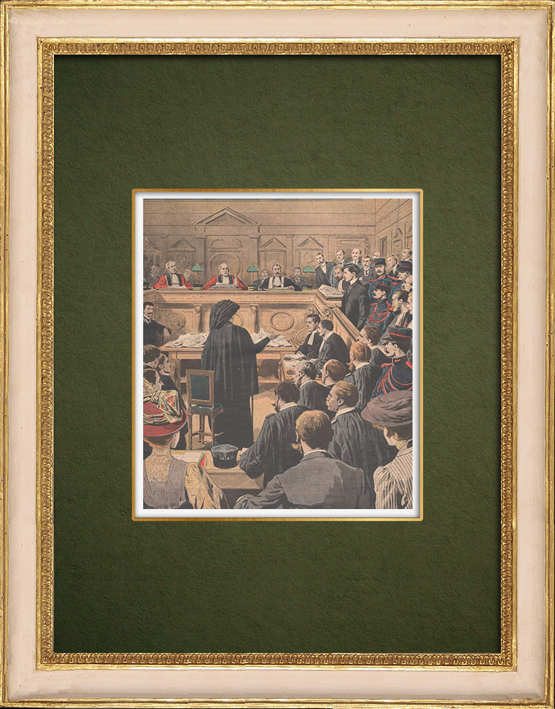 Antique Prints & Drawings | Trial of Soleilland - Assize Court of Paris - 1907 | Wood engraving | 1907