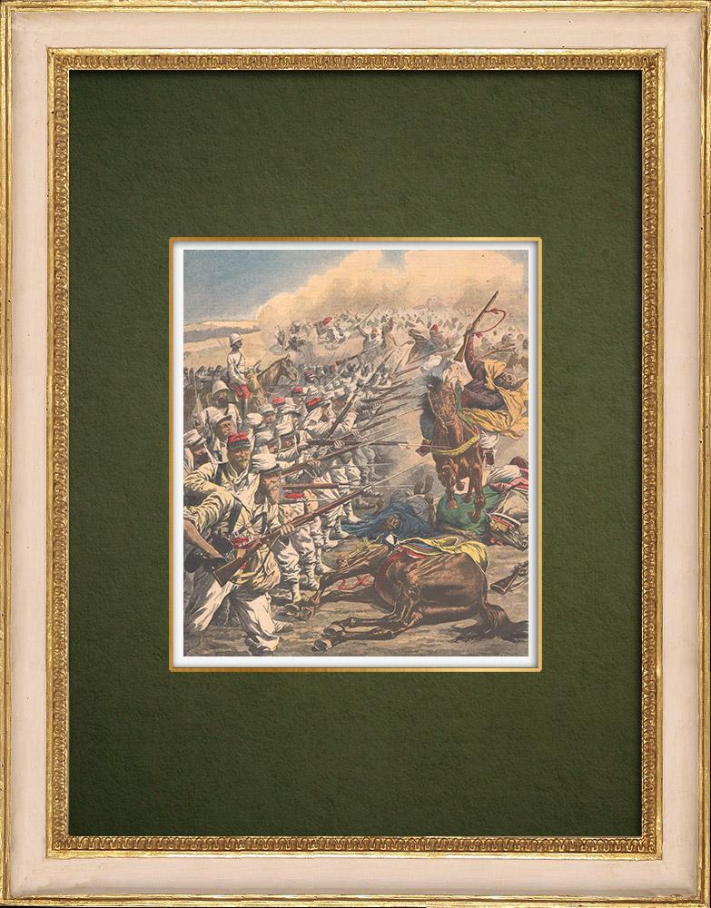 Gravures Anciennes & Dessins | La Légion étrangère au Maroc - Casablanca - 1907 | Gravure sur bois | 1907