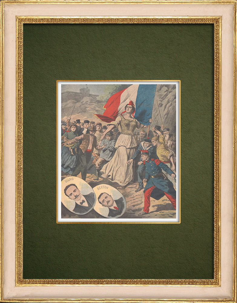 Stampe Antiche & Disegni | Traditori della Patria - Ullmo e Berton - 1907 | Incisione xilografica | 1907