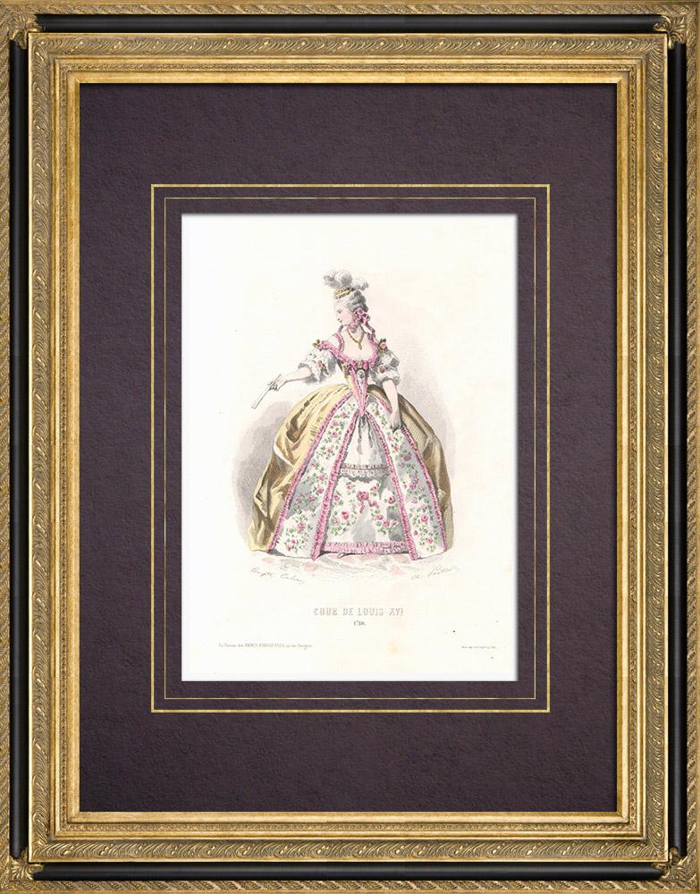 Stampe Antiche & Disegni   Costume della Corte di Luigi XVI di Francia (1780)   Stampa calcografica   1854