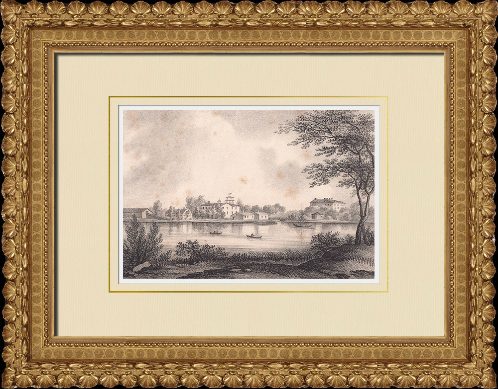 Antique Prints & Drawings | View of Forsmark - Östhammar - Uppland (Sweden) | Lithography | 1840