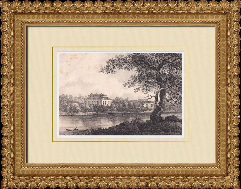 Stampe Antiche & Disegni | Castello di Ekebyholm - Norrtälje - Uppland (Svezia) | Litografia | 1840