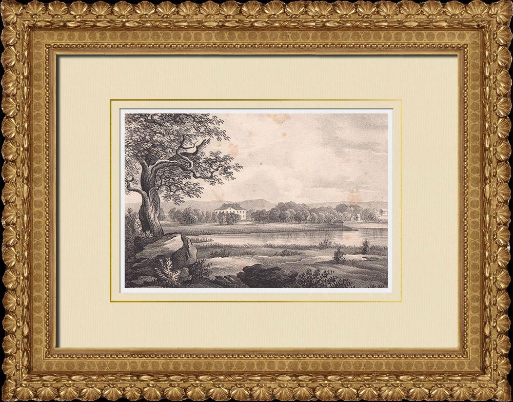Gravures Anciennes & Dessins | Vue de Rånäs - Norrtälje - Stockholm - Uppland (Suède) | Lithographie | 1840