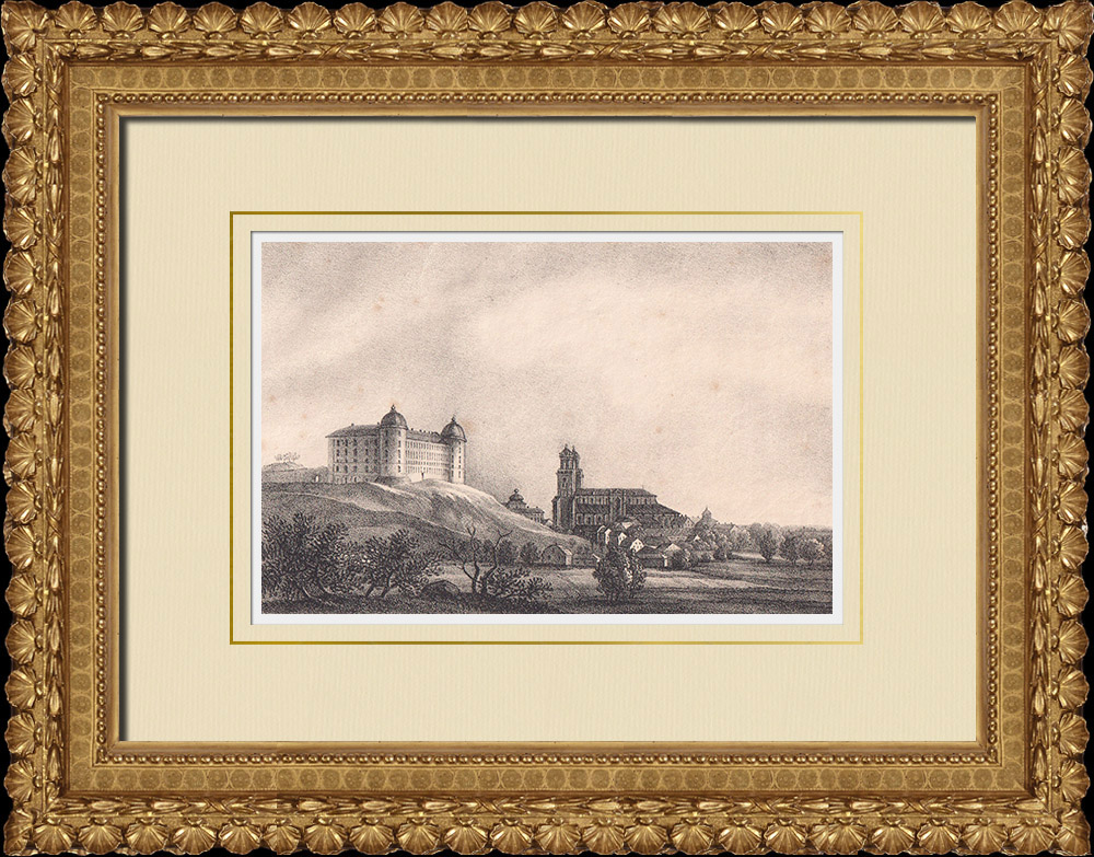 Antique Prints & Drawings | View of Uppsala - Uppland (Sweden) | Lithography | 1840