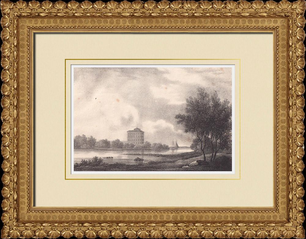 Antique Prints & Drawings   Tynnelsö Castle - Strängnäs - Södermanland (Sweden)   Lithography   1840