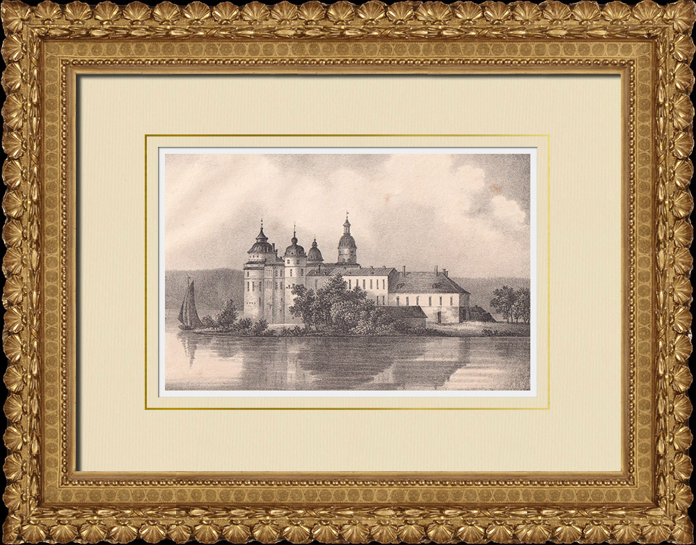 Antique Prints & Drawings | Gripsholm Castle - Mariefred - Södermanland (Sweden) | Lithography | 1840