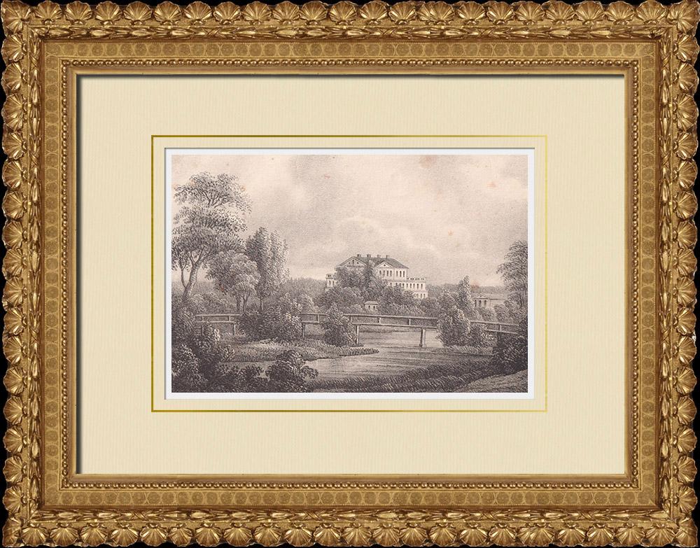 Stampe Antiche & Disegni | Castello di Sävstaholm - Vingåker - Södermanland (Svezia) | Litografia | 1840