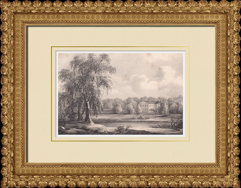 Antique Prints & Drawings | Mansion Broby - Bettna - Södermanland (Sweden) | Lithography | 1840