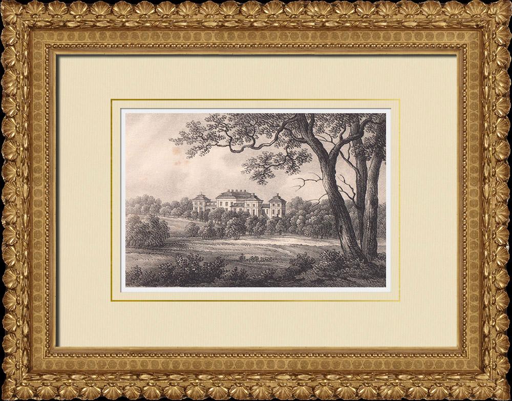 Gravures Anciennes & Dessins | Château d'Ericsberg - Katrineholm - Stora Malms socken - Sudermanie (Suède) | Lithographie | 1840