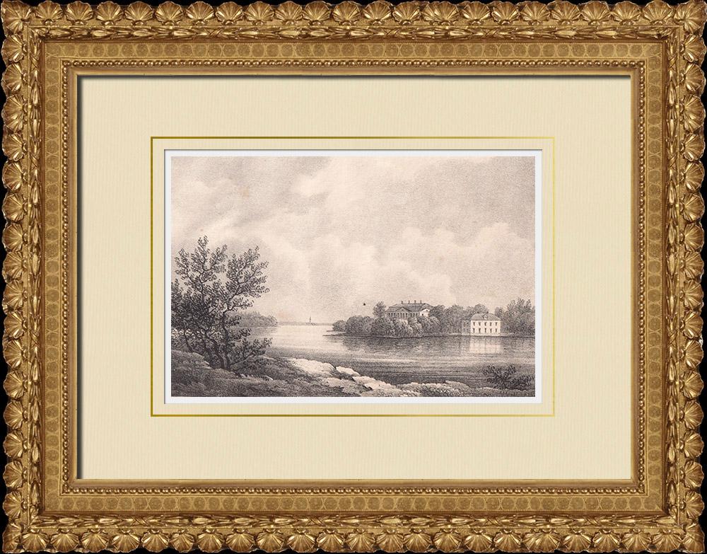 Antique Prints & Drawings | Ekerö mansion - Stockholm - Södermanland (Sweden) | Lithography | 1840