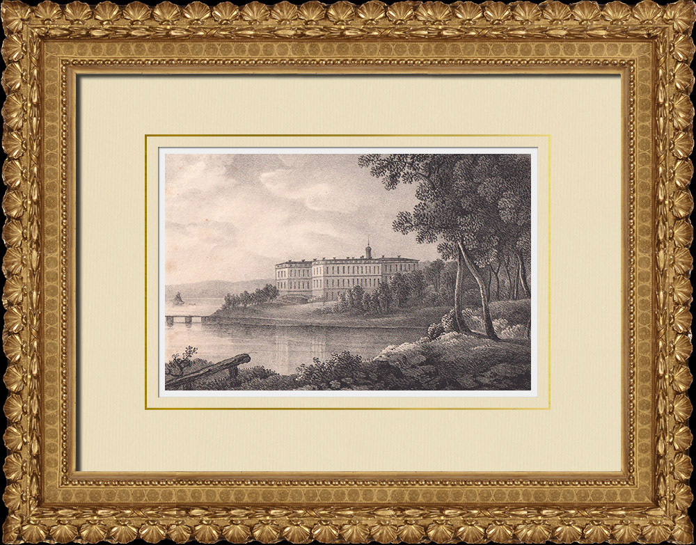 Antique Prints & Drawings | Tullgarn Palace - Baltic Sea - Stockholm - Södermanland (Sweden) | Lithography | 1840