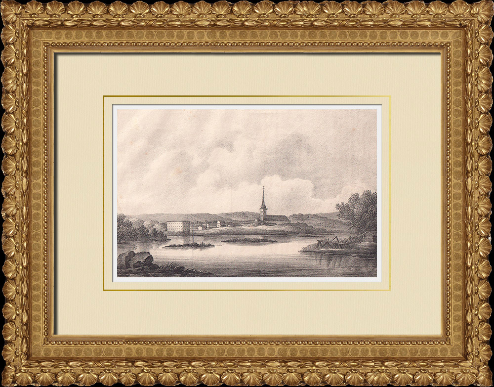 Antique Prints & Drawings | View of Västerås - Västmanland (Sweden) | Lithography | 1840
