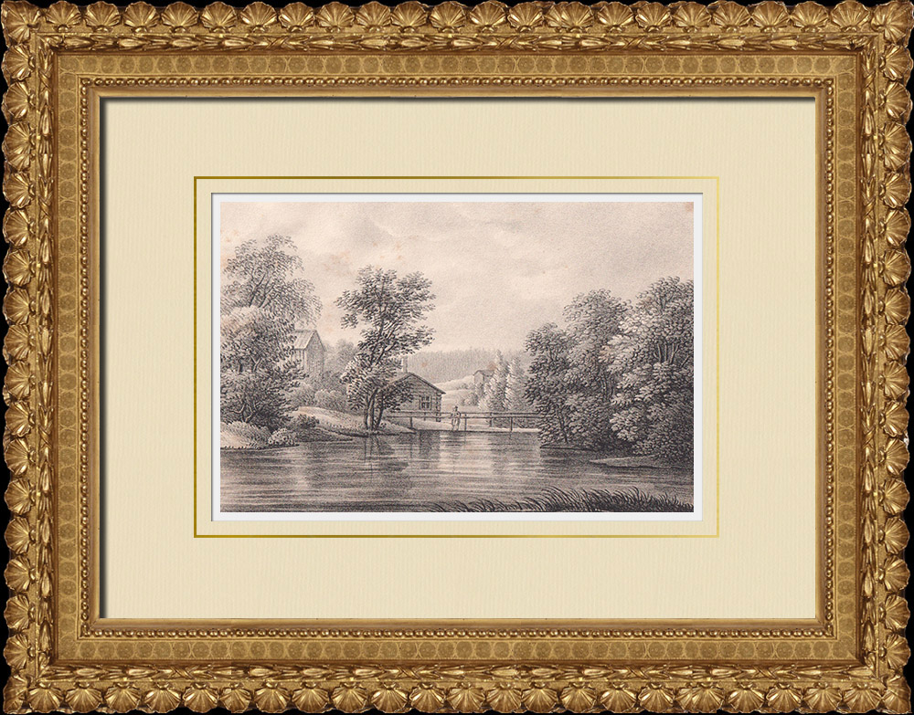 Antique Prints & Drawings | View of Turbo - Hedemora - Dalarna (Sweden) | Lithography | 1840