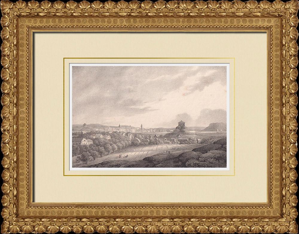 Antique Prints & Drawings | View of Gothenburg - Skansen Lejonet - German Church - Västergötland (Sweden) | Lithography | 1840