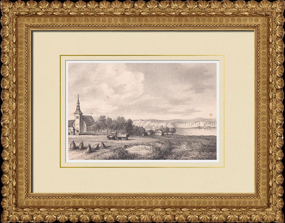 Antique Prints & Drawings | Brahehus - Jönköping - Vättern lake - Småland (Sweden) | Lithography | 1840