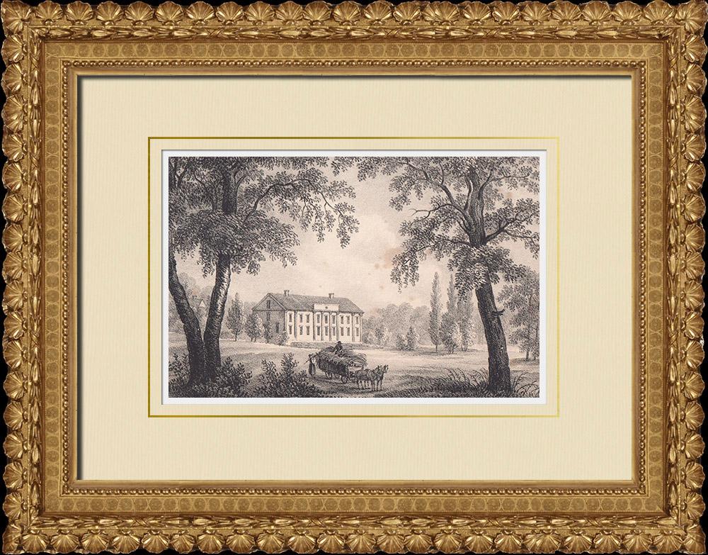Stampe Antiche & Disegni | Mansion di Ebbetorp - Småland (Svezia) | Litografia | 1840