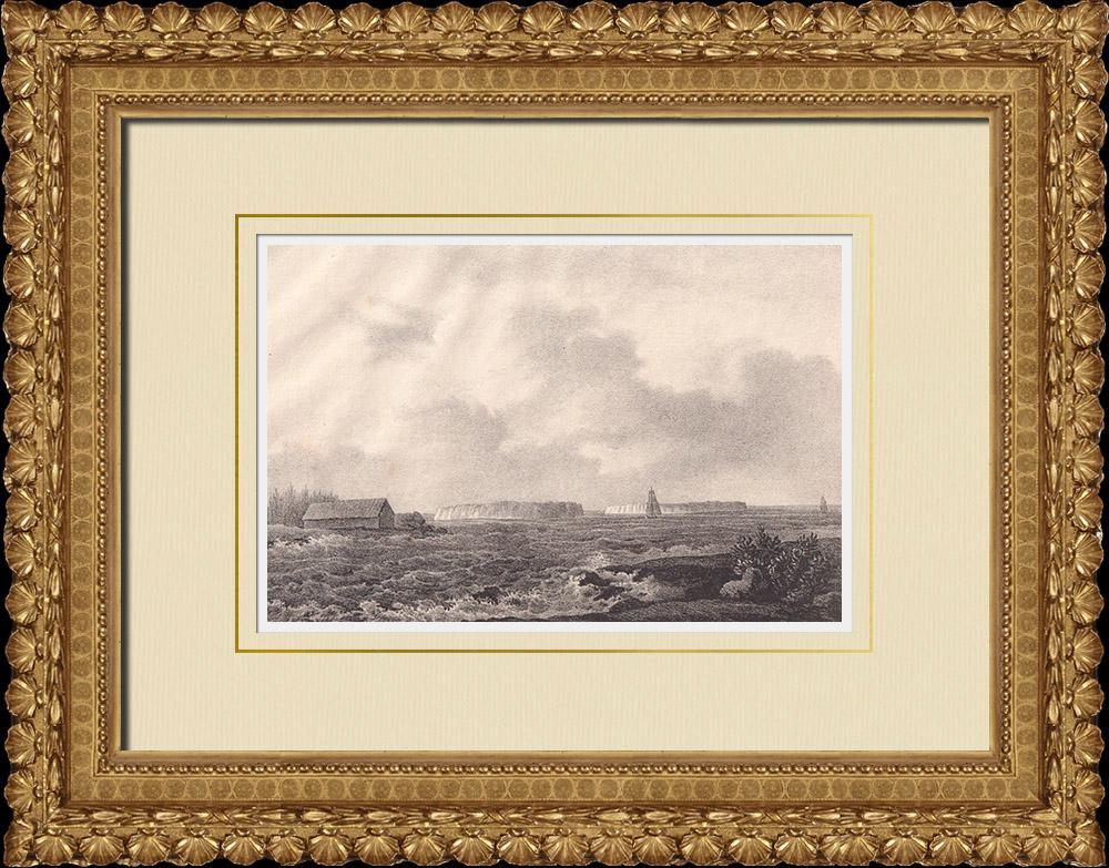 Antique Prints & Drawings   View of Karlsö Islands - Lilla Karlsö - Stora Karlsö - Gotland (Sweden)   Lithography   1840