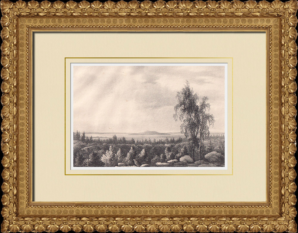 Antique Prints & Drawings | Jungfrun from Böhlsbacken - Öland (Sweden) | Lithography | 1840