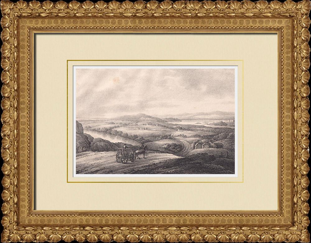 Grabados & Dibujos Antiguos | Selva en el norte de Dalsland (Suecia) | Litografía | 1840