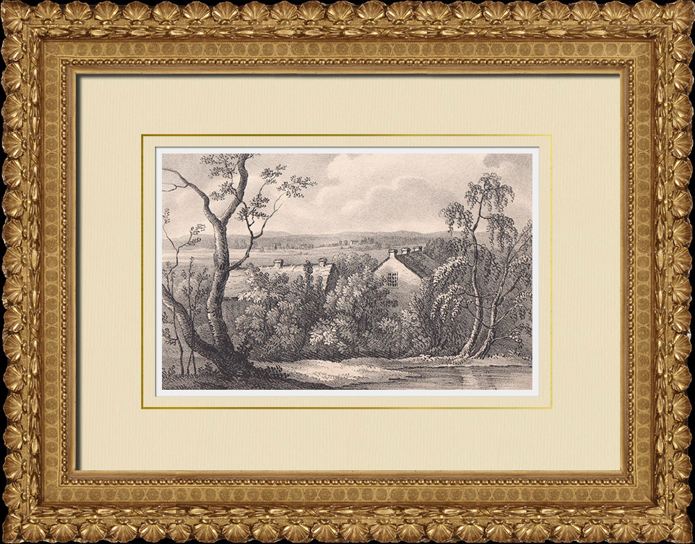 Antique Prints & Drawings | View of Tostarp - Karlshamns - Scania (Sweden) | Lithography | 1840