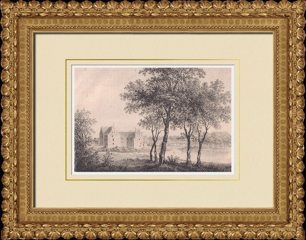 Stampe Antiche & Disegni | Castello di Wanås - Östra Göinge - Scania (Svezia) | Litografia | 1840