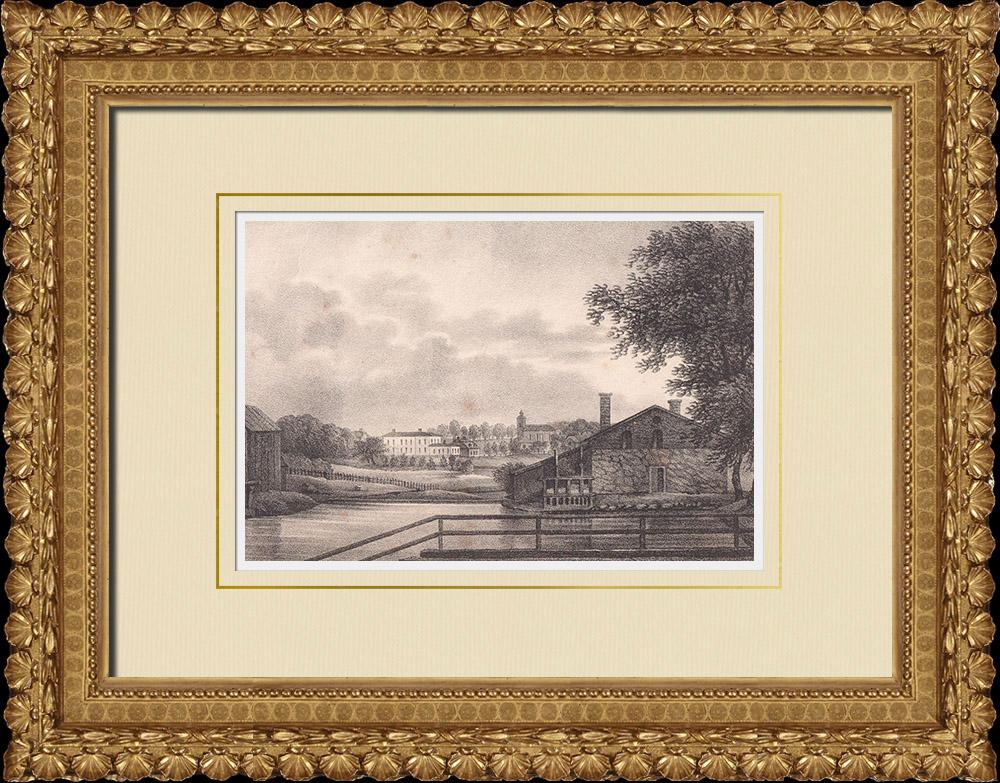 Antique Prints & Drawings | Högbo bruk - Sandvikens - Norrland (Sweden) | Lithography | 1840