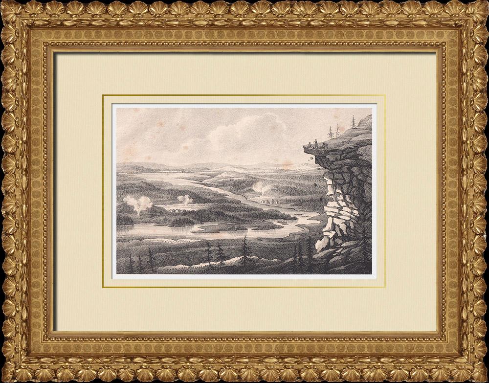 Stampe Antiche & Disegni | Aavasaksa - Lapponia - Torne lappmark - Finlandia - Lapponia svedese (Svezia) | Litografia | 1840