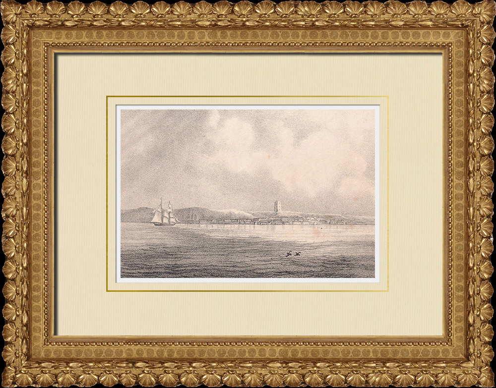 Antique Prints & Drawings | View of Helsingborg - Sund - Scania (Sweden) | Lithography | 1840