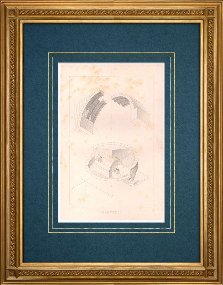Antique Prints & Drawings | Hierapolis (Turkey) | Intaglio print | 1883