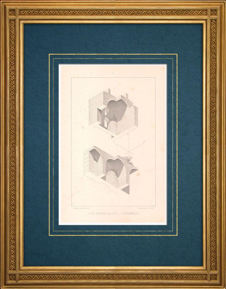 Stampe Antiche & Disegni | Santa Sofia - Nicomedia - Sito archeologico (Turchia) | Stampa calcografica | 1883