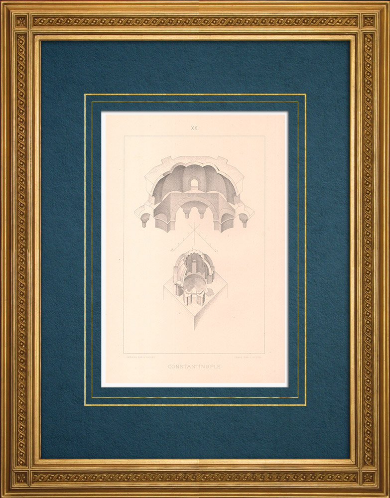 Stampe Antiche & Disegni | Costantinopoli - Chiesa dei Santi Sergio e Bacco - Théotokos (Turchia) | Stampa calcografica | 1883
