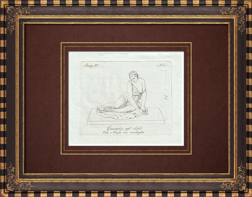 Stampe Antiche & Disegni | La Venere alla conchiglia - Galleria Borghese - Roma | Incisione su rame | 1796
